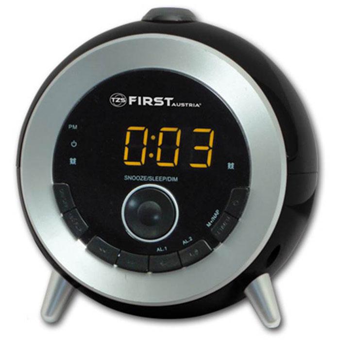 First FA-2421-6, Black радиочасыFA-2421-6 BlackFirst FA-2421-6 - стильные радиочасы с проектором. Модель оснащена удобным цифровым дисплеем 0.6 с двумя цветами индикации и возможностью регулирования яркости подсветки. Имеется также функция установки повтора сигнала, сразу двух будильников или будильника на выходные дни.