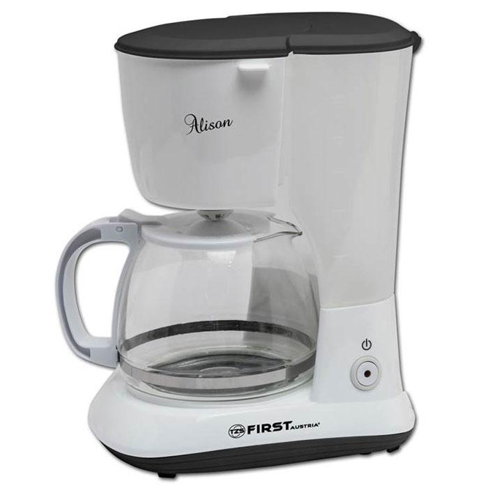 First FA-5464-1, White кофеваркаFA-5464-1 WhiteFirst FA-5464-1 - надежная и недорогая капельная кофеварка с функцией поддержания температуры. Прозрачная колба имеет стеклянный корпус. В данной модель используется съемный нейлоновый фильтр. Антикапельная система обеспечит дополнительное удобство в использовании. Емкость кофеварки рассчитана на 10 чашек (около 1 л).