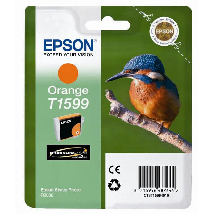 Epson T1599 (C13T15994010), Orange картридж для Stylus Photo R2000C13T15994010Картридж Epson T1599 для струйных принтеров Epson Stylus Photo R2000.Расходные материалы Epson для печати максимизируют характеристики принтера. Обеспечивают повышенную четкость изображения и плавность переходов оттенков и полутонов, позволяют отображать мельчайшие детали изображения. Обеспечивают надежное качество печати.