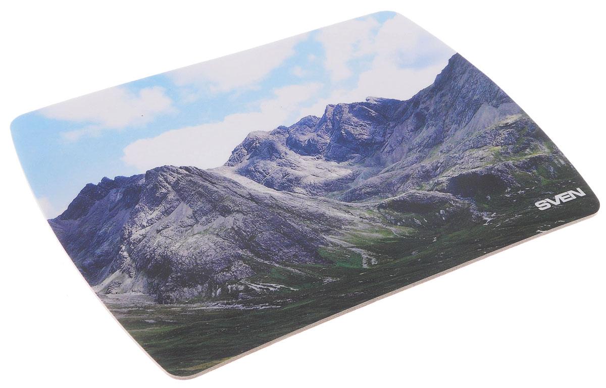 Sven UA, Grey Blue коврик для мышиUA-011123_горыКоврик для мыши Sven UA изготовлен из вспененного мягкого пластика и полипропилена, а также имеет износостойкую печать с уникальными пейзажами планеты. Данный коврик обеспечивает надежное сцепление с поверхностью стола.