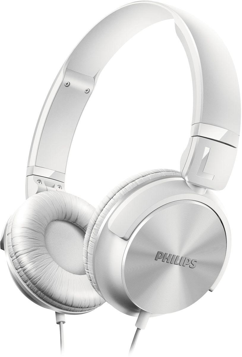 Philips SHL3060WT/00 наушникиSHL3060WT/00Наушники Philips SHL3060 в стиле DJ отличаются мощным звуком и глубокими басами. Благодаря поворачивающимся чашкам с мягкими амбушюрами вы получите невероятные ощущения от прослушивания музыки в дороге. Высокомощные 32-мм излучатели обеспечивают кристально чистое, детальное и естественное звучание. Закрытое акустическое оформление гарантирует надежную звукоизоляцию, отсекая окружающие шумы.Для обеспечения максимального комфорта при использовании в дороге эти наушники легко складываются, гарантируя удобство переноски.Регулируемые чашки наушников и оголовье для идеальной посадкиМягкие дышащие амбушюры для комфорта при длительном прослушиванииКомпактная плоская складная конструкция для удобства переноски