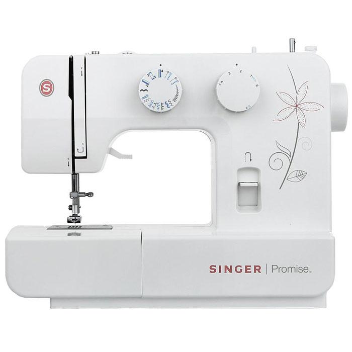 Singer Promise 1412 швейная машинаPromise1412Недорогая компактная швейная машина Singer Promise 1412 умеет делать все основные швейные операции и отлично подойдет для обучения шитью, ремонта одежды, шитья несложных вещей и других подобных работ.Простота в выборе строчек, регулируемая длина стежка, выметывание 4-х - шаговой петли - все это доступно с максимальной простотой и удобством шитья. Быстрая и простая замена прижимной лапки, а также отсек для хранения аксессуаров обеспечит удобство в регулярном использовании модели.Singer Promise 1412 относится к приборам электромеханического типа. Электромеханические машины снабжены электрический мотором, который приводит в движение маховое колесо. Скорость шитья зависит от силы нажатия на ножную педаль. Эта швейная машина также снабжена традиционным качающемся челноком.