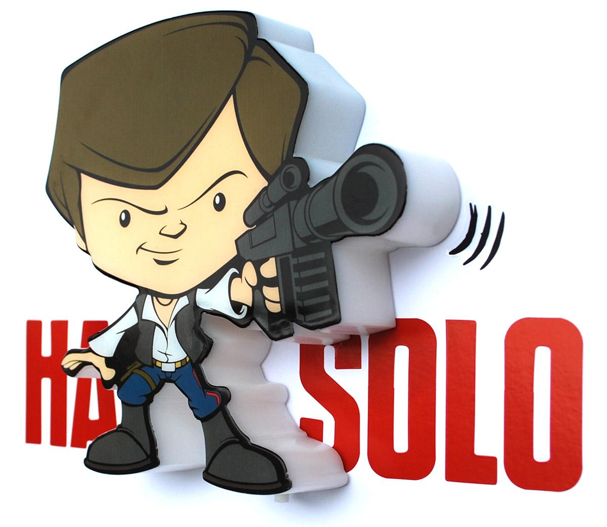 Star Wars Пробивной 3D мини-светильник Хан Соло minions пробивной 3d мини светильник боб