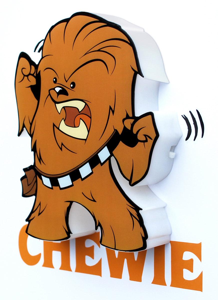 Star Wars Пробивной 3D мини-светильник Чубакка50012120Пробивной 3D мини-светильник Star Wars Чубакка обязательно понравится вашему ребенку.Особенности: Безопасный: без проводов, работает от батареек (2хААА, не входят в комплект);Не нагревается: всегда можно дотронуться до изделия;Реалистичный: 3D наклейка в комплекте;Фантастический: выглядит превосходно в любое время суток;Удобный: простая установка (автоматическое выключение через полчаса непрерывной работы).Товар предназначен для детей старше 3 лет. ВНИМАНИЕ! Содержит мелкие детали, использовать под непосредственным наблюдением взрослых.