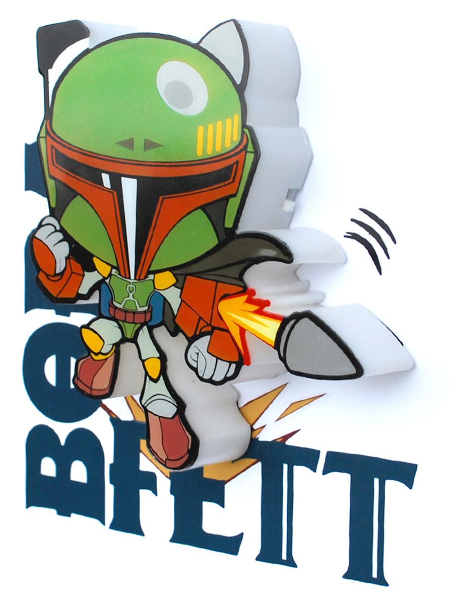 Star Wars Пробивной 3D мини-светильник Боба Фетт50010120Пробивной 3D мини-светильник Star Wars Боба Фетт обязательно понравится вашему ребенку.Особенности: Безопасный: без проводов, работает от батареек (2хААА, не входят в комплект);Не нагревается: всегда можно дотронуться до изделия;Реалистичный: 3D наклейка в комплекте;Фантастический: выглядит превосходно в любое время суток;Удобный: простая установка (автоматическое выключение через полчаса непрерывной работы).Товар предназначен для детей старше 3 лет. ВНИМАНИЕ! Содержит мелкие детали, использовать под непосредственным наблюдением взрослых.