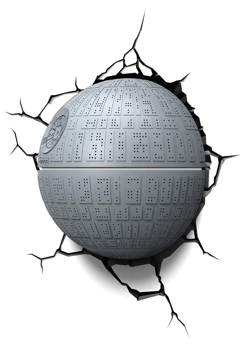 Star Wars Пробивной 3D светильник Звезда смерти50033Пробивной 3D светильник Star Wars Звезда смерти обязательно понравится вашему ребенку.Особенности: Безопасный: без проводов, работает от батареек (3хАА, не входят в комплект);Не нагревается: всегда можно дотронуться до изделия;Реалистичный: 3D наклейка-имитация трещины в комплекте;Фантастический: выглядит превосходно в любое время суток;Удобный: простая установка (автоматическое выключение через полчаса непрерывной работы).Товар предназначен для детей старше 3 лет. ВНИМАНИЕ! Содержит мелкие детали, использовать под непосредственным наблюдением взрослых.