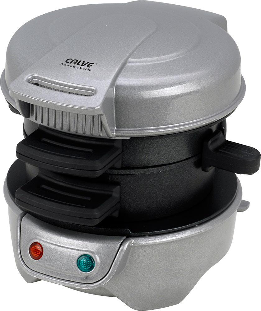 Calve CL-5001 бургер-мастерCL-5001Calve CL-5001 - это бутербродница, с помощью которой вы быстро приготовите сочный поджаренный сэндвич. Обеспечивает равномерное поджаривание блюда с обеих сторон без переворачивания. Все вынимающиеся части с антипригарным покрытием. Эта бутербродница состоит из двух отдельных секций со сдвижными перегородками. Таким образом, каждая часть бургера готовится индивидуально в своей секции.Время приготовления: 5 минутКак работает бургер-мастер:1: Подключите прибор к сети. Подключенный прибор сразу начнет нагреваться.В это время выберите ингредиенты и подготовьте их для приготовления.2: Положите в нижний отсек прибора желаемые ингредиенты, например, разрезанную пополам булочку, сыр, колбасу, а в верхний отсек вылейте одно свежее яйцо3: Закройте крышку, и через 5 минут ваш бургер, включая яйцо, будет полностью запечен4: Выдвиньте пластинку, на которой готовится яйцо, откройте крышку и извлеките ваш аппетитный завтрак - горячий бургер.