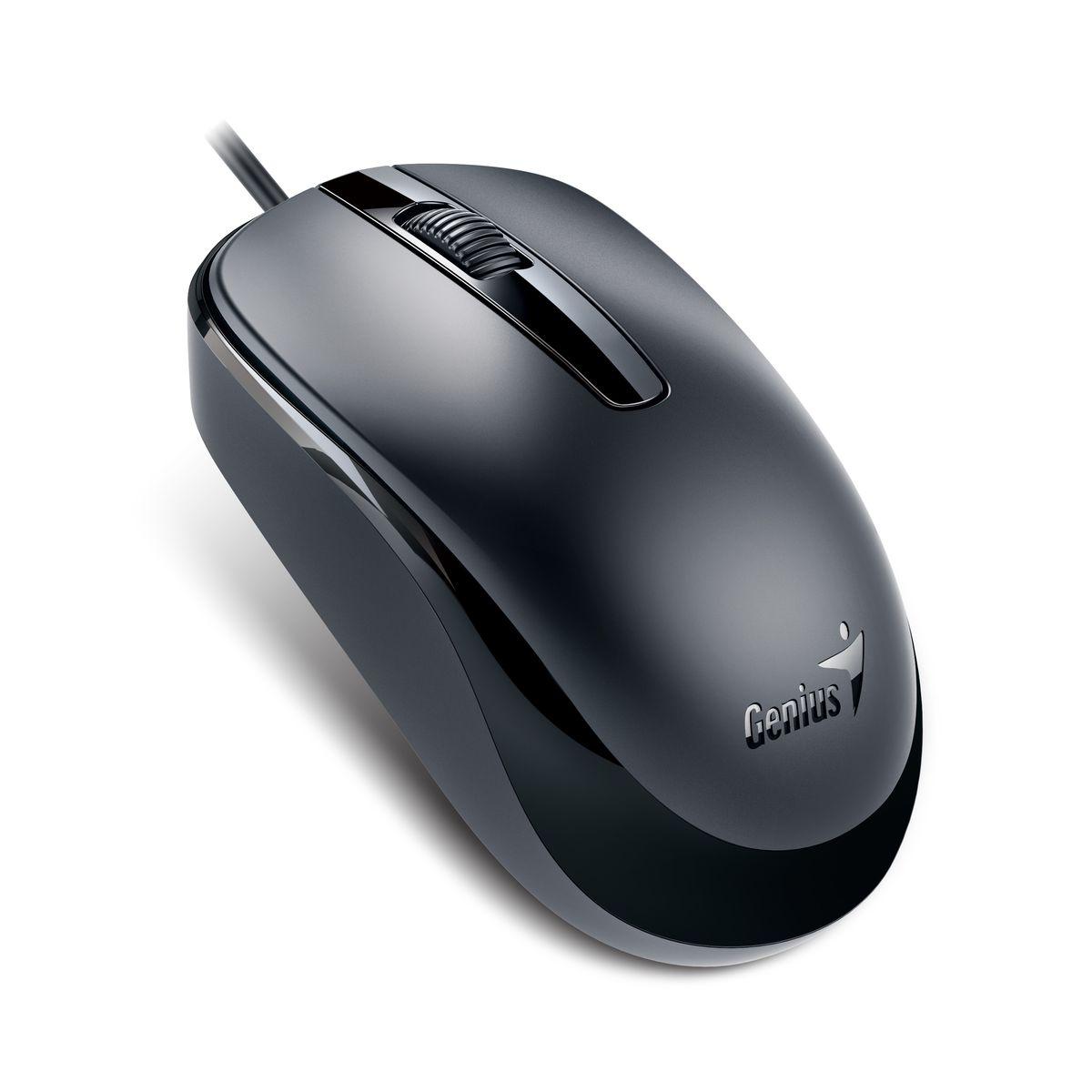 Genius DX-120, Black мышь31010105100Genius DX-120 - это классическая проводная мышь черного цвета с тремя кнопками, колесом прокрутки и интерфейсом подключения USB. Данная модель имеет оптический сенсор с разрешением 1000 dpi, который обеспечивает четкость движения и высокую скорость перемещения курсора во время работы. Компактная и эргономичная конструкция, и простота установки делают Genius DX-120 отличной покупкой.