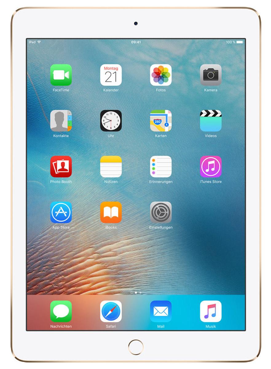 Apple iPad Pro 9,7 Wi-Fi 128GB, GoldMLMX2RU/AiPad Pro с дисплеем 9,7 дюйма весит менее 500 граммов и оснащен новым профессиональным дисплеем Retina с более высокой яркостью, расширенной цветовой палитрой и сниженным уровнем отражения. В новом iPad Pro также используется режим Night Shift и технология дисплея True Tone, позволяющая значительно улучшить регулировку баланса белого.Для невероятной производительности в устройстве установлен процессор A9X с 64-битной архитектурой, который превосходит по мощности большинство портативных компьютеров PC. Аудиосистема с четырьмя динамиками стала в два раза мощнее. Новая 12-мегапиксельная камера iSight позволяет снимать Live Photos и видео 4K. iPad Pro также оснащён 5-мегапиксельной HD-камерой FaceTime и поддерживает более быстрые беспроводные технологии. Кроме того, устройство совместимо с уникальным Apple Pencil и новой клавиатурой Smart Keyboard, созданной специально для iPad Pro с дисплеем 9,7 дюйма.В 9,7-дюймовом дисплее нового iPad Pro использованы самые передовые технологии, в том числе технология True Tone, которая позволяет с помощью четырёхканальных датчиков регулировать баланс белого на экране с учётом внешнего освещения, что обеспечивает более точную и естественную цветопередачу и комфорт для глаз. Усовершенствованный дисплей Retina стал на 25% ярче, а уровень отражения снизился на 40% по сравнению с iPad Air 2, поэтому изображение на экране можно легко рассмотреть как при искусственном, так и при естественном свете. На iPad Pro используется та же расширенная цветовая палитра, что и на iMac с дисплеем Retina 5K, а насыщенность цвета увеличилась на 25%. Специальный контроллер синхронизации, фотовыравнивание и оксидный тонкоплёночный транзистор обеспечивают невероятную точность при передаче цветов, а также высокую контрастность и чёткость изображения. А режим Night Shift в iOS 9.3 использует часы iPad Pro и службу геолокации, чтобы автоматически изменять цвета дисплея на более тёплые после наступления темноты, благод
