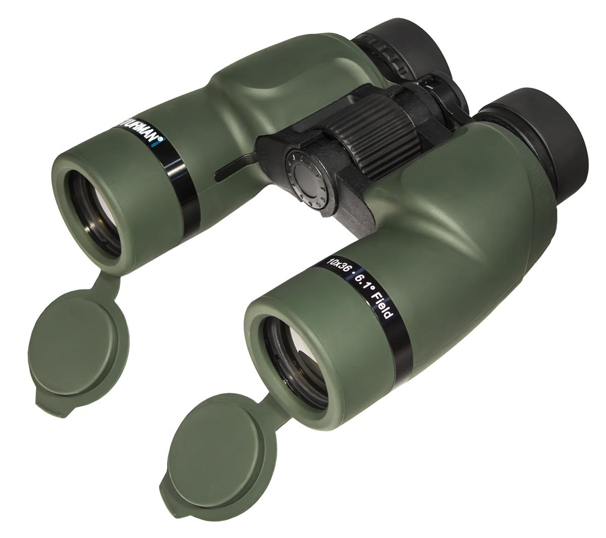 Бинокль Sturman, цвет: зеленый, увеличение 10х крат, диаметр объектива 36 мм