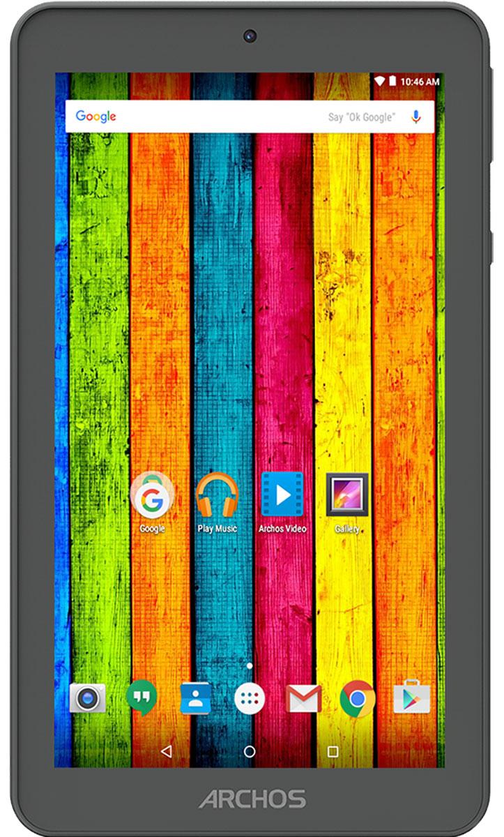Archos 70b Neon70B NEONARCHOS 70b Neon является одним из самых доступных планшетов на рынке. Он включает в себя мощный четырехъядерный процессор, который работает на одной из новейших операционных систем Android: Android 5.1 Lollipop. Удивительные 7-дюймовый IPS-дисплей обеспечивает невероятную живость картинки и широкие углы обзора, идеально подходит для наслаждения контентом на ходу. ARCHOS 70b Neon разработан, чтобы предложить уникальный мультимедийный опыт.Сочетая широкий формат и портативность, ARCHOS 70b Neon использует сенсорный дисплей диагональю 7 дюймов и мощный четырехъядерный процессор, идеально подходящий для работы с мультимедиа, приложениями и интернет серфинга.ARCHOS 70b Neon отлично подходит не только для видеовызовов, но и для запечатления незабываемых моментов благодаря наличию передней и задней камер. В комплект ARCHOS 70b Neon входит 8ГБ встроенной флэш-памяти, расширяемой через микро SD-слот с поддержкой микро SD-карт до 32ГБ.Откройте для себя Android Lollipop 5.1 с ARCHOS 70b Neon. ОС обеспечивает эффективное управление зарядом аккумулятора и оснащена рядом серьёзных улучшений. Полностью сертифицированным Google, этот смартфон включает в себя лучшие мобильные приложения Google, а также полный доступ к магазину Google Play с более 1,3 миллиона приложений и игр, а также музыке, фильмам, книгам и журналам. Получите максимум от Android.ARCHOS 70b Neon содержит лучшие планшетные приложения ARCHOS Media Center. Специализированные программы для видео и музыкальных записей поддерживают все необходимые и популярные форматы и кодеки, субтитры, системы для поддержки потоковых данных для работы с любыми устройствами, включая компьютеры и DLNA-телевизоры.Планшет сертифицирован Ростест и имеет русифицированный интерфейс меню, а также Руководство пользователя.