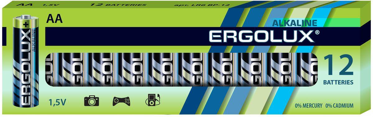 Батарейка алкалиновая Ergolux, тип LR6, 1,5 В, 12 шт11749Щелочные (алкалиновые) батарейки Ergolux оптимально подходят для повседневного питания множества современных бытовых приборов: электронных игрушек, фонарей, беспроводной компьютерной периферии и многого другого. Не содержат кадмия и ртути. Батарейки созданы для устройств со средним и высоким потреблением энергии. Работают в 10 раз дольше, чем обычные солевые элементы питания. Алкалиновые батарейки Ergolux - высокое качество и максимальная производительность.В комплекте 12 штук.