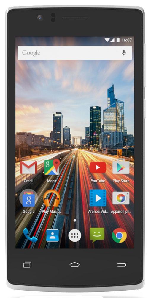 Archos 45c Helium45c HeliumArchos 45c Helium - стильный и производительный смартфон по доступной цене.Великолепный 4.5-дюймовый дисплей IPS обеспечивает яркие и насыщенные цвета в любых условиях. Мощный четырехъядерный процессор и поддержка технологии 4G обеспечивают комфортные возможности для веб-серфинга, игр и фотографии.Воспользуйтесь высокой скоростью интернета для доступа к онлайн-контенту благодаря поддержке сетей 4G/LTE. Два слота для SIM-карт позволяют использовать Archos 45c Helium как для личных контактов, так и для работы.Получайте качественные снимки с помощью основной 8-мегапиксельной камеры. А фронтальная камера позволит вести видеочат в приложениях вроде Google Hangouts, чтобы оставаться на связи с друзьями и семьей.На Archos 45c Helium предустановлена премиальная оптимизированная версия приложения Archos Video – более 15 лет опыта разработки кодеков, форматов и знания мультимедийного мобильного рынка были объединены в данном популярном приложении для обеспечения наилучшего мобильного мультимедиа опыта.Благодаря Android Lollipop с предустановленным магазином Google Play вы сможете получить максимальную отдачу от вашего смартфона, используя выбирая между более 1,3 млн приложений и игр. Телефон сертифицирован Ростест и имеет русифицированный интерфейс, меню и Руководство пользователя.