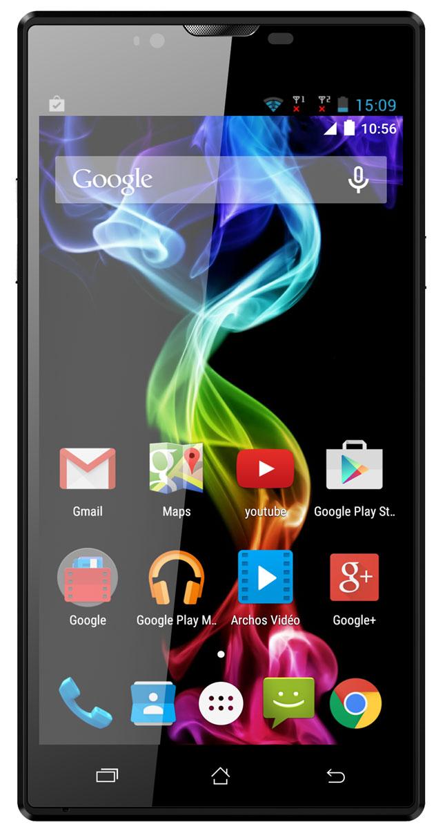 Archos 55 Platinum55 PlatinumArchos 55 Platinum обладает 5,5-дюймовым HD-экраном, подсвечивающим Android 5.1 Lollipop и революционные улучшения этой знаменитой операционной системы. С удивительной IPS-экраном, используемым в данной модели, вы получите лучше углы обзора и отличную яркость, которая не меркнет даже при ярком дневном свете. Ваши видео и фотографии будут выглядеть потрясающе благодаря высокому разрешению дисплея (1280 x 720).Archos 55 Platinum оснащен современным четырехъядерным процессором (1,3 ГГц), мощности которого достаточно для запуска ваших приложений, игр и интернет серфинга на ходу. Делайте великолепные снимки, записывайте видео в HD-качестве, используя основную 13-мегапиксельную камеру. С помощью фронтальной камеры оставайтесь на видеосвязи с друзьями и семьей с помощью приложения Google Hangouts или его аналогов. Поддержка двух сим-карт обеспечивает дополнительную гибкость, позволяя работать с двумя мобильными сетями одновременно, одну из которых можно использовать для личного общения, а вторую - для рабочих контактов.Смартфон обладает лучшей системой поддержки мультимедиа-приложений Archos Media Center: индивидуальные приложения для видео и музыки, поддерживающие лучшие форматы и кодеки, работают с автосубтитрами и системами для потоковой передачи данных с планшета или компьютера на смартфон или со смартфона на телевизор с функцией DLNA. Получите максимум от Archos 55 Platinum благодаря использованию Android 5.1 Lollipop и поддержке магазина Google Play, в котором представлено более 1 миллиона приложений, игр и медиа-контента.Телефон сертифицирован Ростест и имеет русифицированный интерфейс, меню и Руководство пользователя.