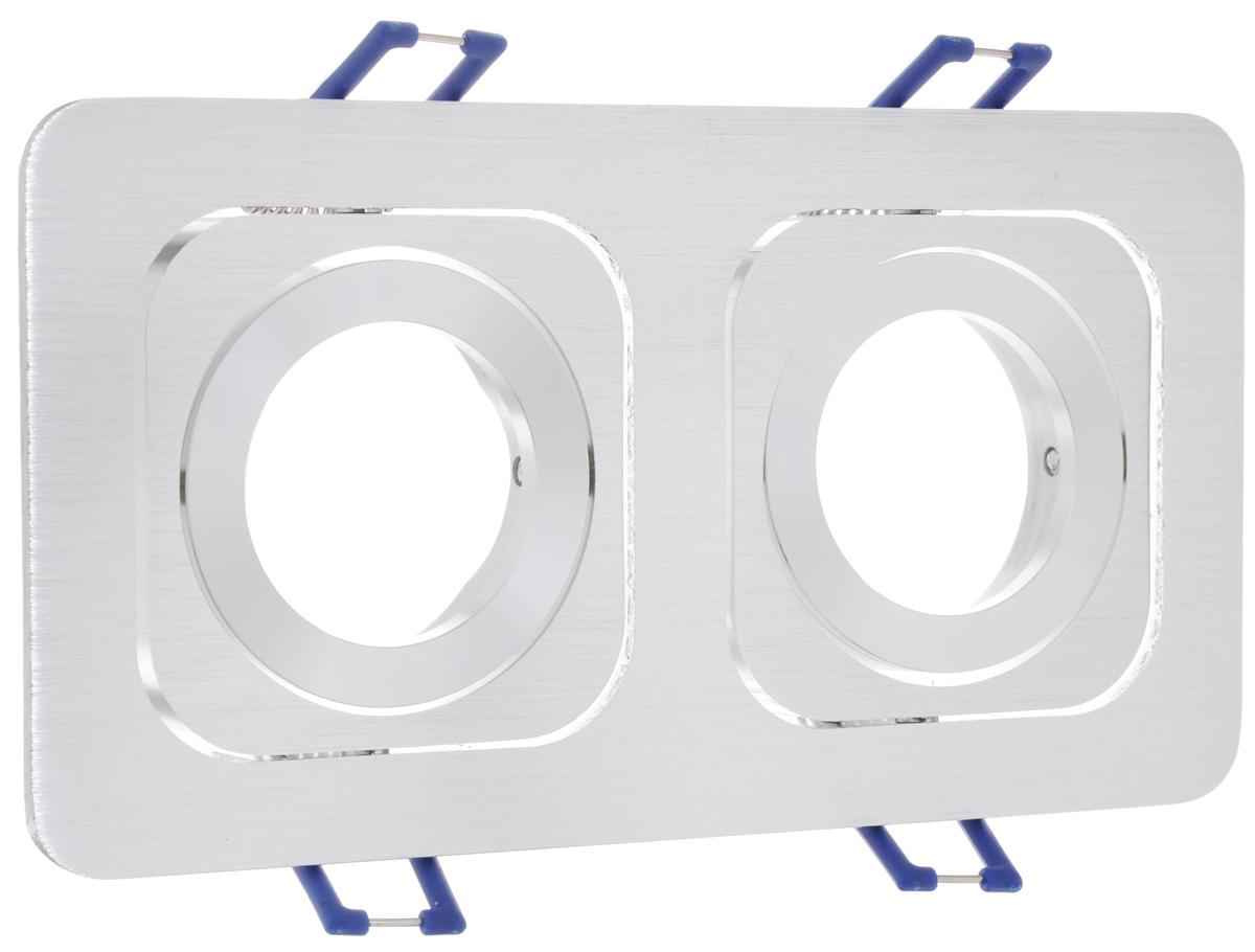 Встраиваемый светильник Elektrostandard Техно 1021/2a030356Цвет: хром. Размер товара: 17,2x9,2x3,5. Размер упаковки: 17,5x11,5x4 см.