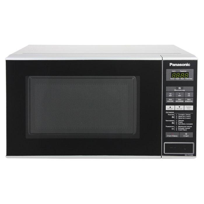 Panasonic NN-ST254MZTE микроволновая печьNN-ST254MZTEPanasonic NN-ST254MZTE - вместительная микроволновая печь, которая хорошо вписывается в интерьер современной кухни. Это функциональная модель, с помощью которого можно как разогревать еду, так и готовить различные блюда.В системе электронного управления микроволновой печи можно разобраться без лишних усилий. Есть информативный, легко читающийся дисплей и встроенные часы.Вы можете занести в память микроволновой печи наиболее понравившиеся рецепты, чтобы не тратить время на введение настроек каждый раз, когда решите их приготовить. Устройство способно хранить в своей памяти до четырёх рецептов.Данная модель имеет три режима автоматического размораживания и три режима автоматического разогрева пищи.