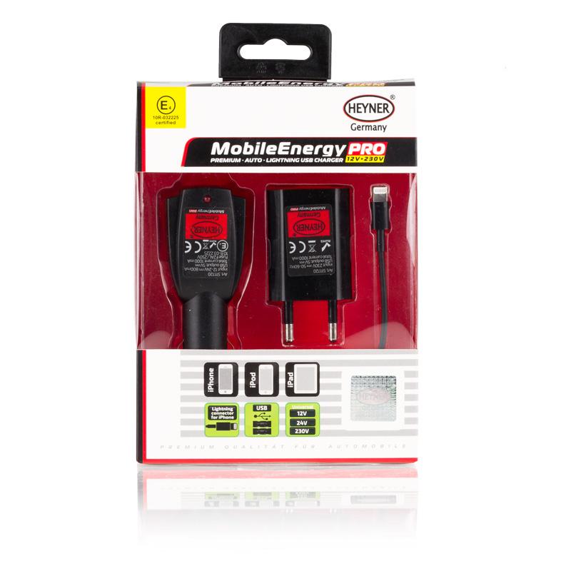 Зарядное устройство 3 в 1 с USB для iPhone5, iPad4, iPodна входе 12/24V, на выходе 230V 50-60 Hz.