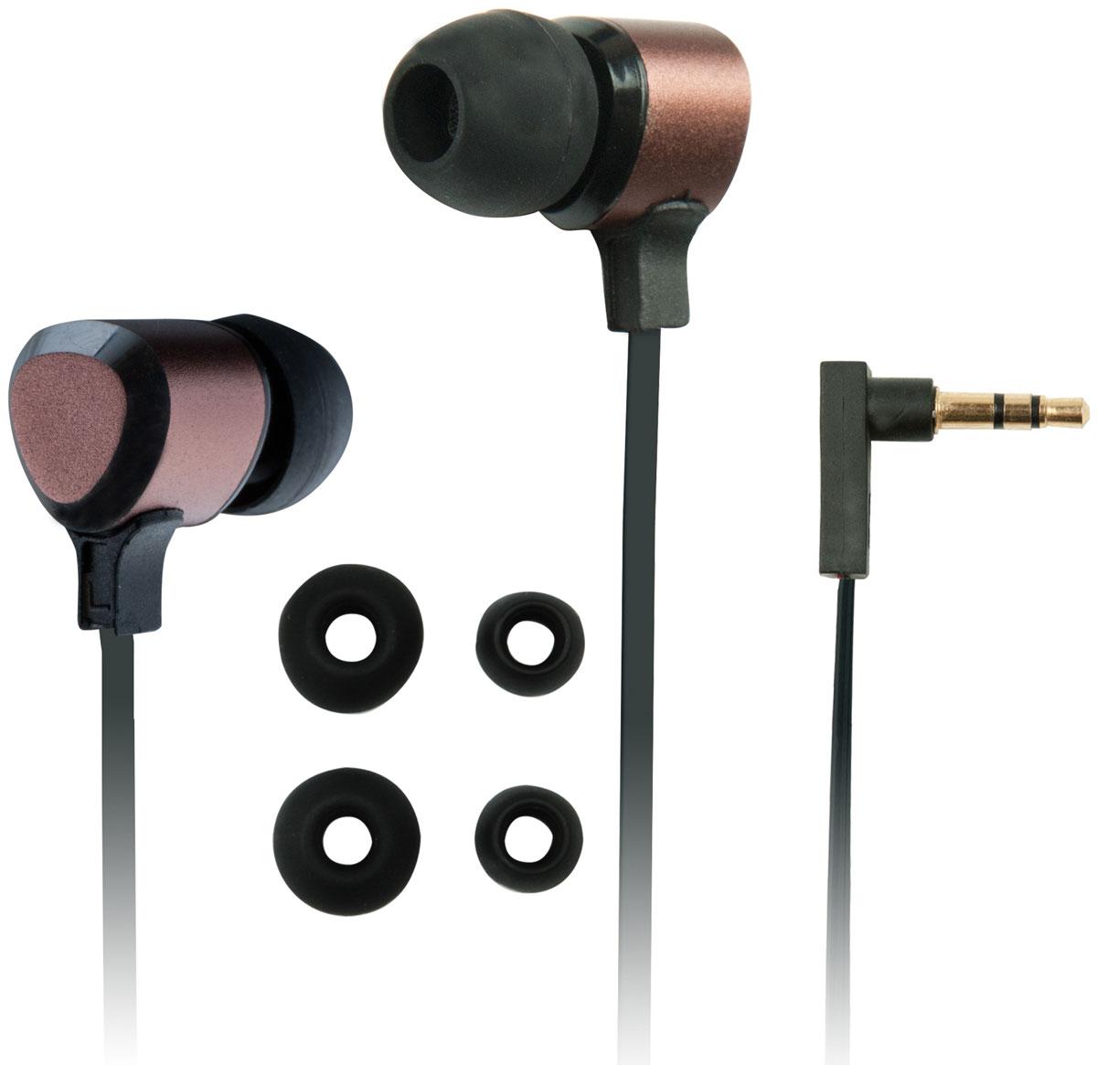 Ritmix RH-136 Metal, Bronze наушники15118264Ritmix RH-136 Metal – это портативные наушники-вставки в стильном алюминиевом корпусе, которые порадуют вас своим звучанием. Модель отличается комфортной посадкой и оснащена плоским кабелем, который предотвращает спутывание.