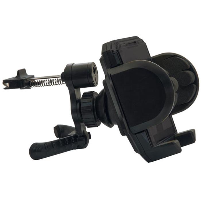 Ritmix RCH-001 V держатель для мобильного телефона15116952Ritmix RCH-001 V – это универсальный автомобильный держатель для компактных гаджетов, простой и удобный вэксплуатации. Устройство поворачивается на 360° и фиксируется в любой позиции.Как много нужно сделать за рулем: и управлять автомобилем, и прокладывать путь, и держать телефонпоблизости, а рук не хватает. Ritmix RCH-001 V будет вашей рукой и надежно позаботится о вашем телефоне, покавы заняты дорогой. Держатель сделает поездку приятной и комфортной, так как общение и интернет-серфингбудет всегда под рукой и на виду.Крепление на вентиляционную решетку автомобиля.Подходит для телефона, смартфона, КПК, навигатора, плеера и других устройств шириной не более 12 cм.Фиксация устройства в держателе одной рукой.Мягкие боковые зажимы предотвращают царапанье.Простая установка/снятие без использования дополнительных инструментов.