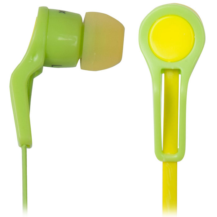 Ritmix RH-014, Green Yellow наушники15118136Ritmix RH-014 - это портативные наушники-вкладыши вставного типа для использования с MP3-плеерами, планшетами и ноутбуками. Наушники оснащены плоским кабелем, который предотвращает провод от спутывания. Ritmix RH-014 представлены в четырёх ярких цветовых вариациях, что позволит подобрать модель на свой вкус.