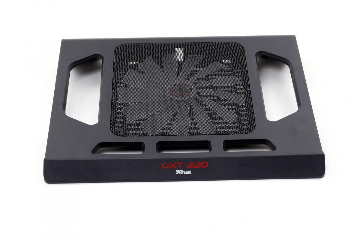Trust GXT 220 охлаждающая подставка для ноутбука20159Охлаждающая подставка Trust GXT 220 для игровых ноутбуков с большим бесшумным красным вентилятором и подсветкой. Обеспечивает охлаждение ноутбука даже при сильных нагрузках. Подходит для ноутбуков с диагональю экрана до 17,3 дюймов.Большой красный вентилятор с подсветкойБесшумный вентилятор, подключаемый через разъем USBДиаметр вентилятора: 170 мм