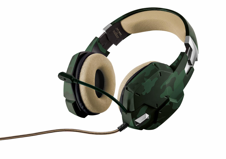 Trust GXT 322C, Green игровая гарнитура20865Наушники, внутренняя часть которых обшита сетчатым материалом, гибкий микрофон и мощные динамики для передачи низких частот.Амбушюры, покрытые специальным сетчатым материалом, обеспечивают комфорт даже после нескольких часов интенсивной игрыРегулируемое оголовье и гибкий микрофонРегулятор громкости и кнопка отключения микрофона расположены непосредственно на наушникахВысококачественный звук с глубокими низкими частотамиНезапутывающийся нейлоновый кабель в оплетке (2 м)