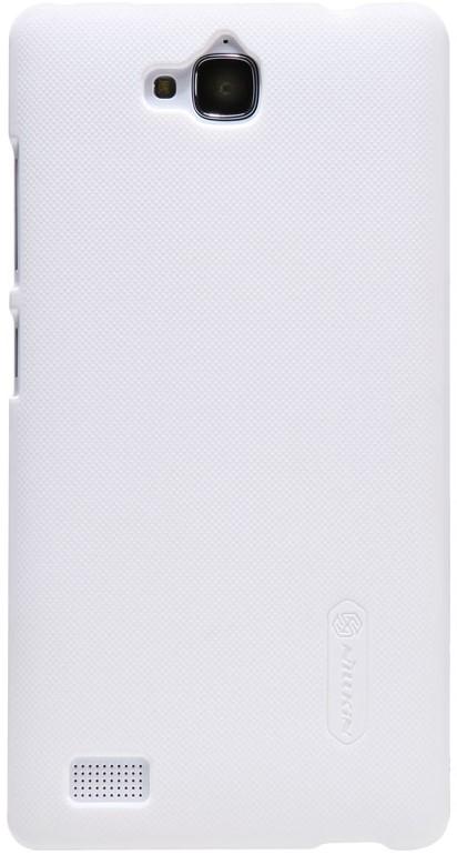 Nillkin Super Frosted чехол для Huawei Honor 3C, White2000000013138Чехол Nillkin Super Frosted для Huawei Honor 3C изготовлен из экологически чистого поликарбоната путем высокотемпературной высокоточной формовки. Он изготовлен из цельной пластины методом загиба, износостойкий, устойчив к оседанию пыли, не скользит, устойчив к образованию отпечатков, легко чистится. Жесткость чехла предотвращает телефон от повреждений во время транспортировки. Размер чехла точно соответствует размеру телефона с четким соответствием всех функциональных отверстий.