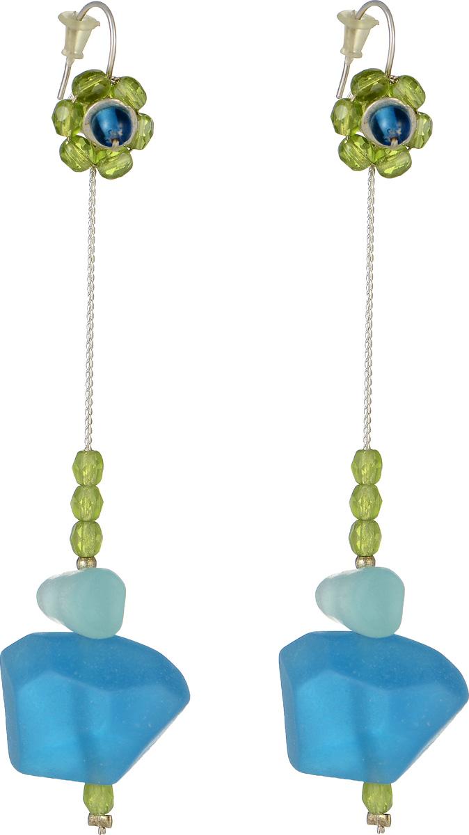 Серьги Lalo Treasures Mon Amour, цвет: голубой, зеленый. E3461-3Серьги с подвескамиОригинальные серьги Lalo Treasures Mon Amour изготовлены из металлического сплава, дополнены подвесками с декоративными элементами из ювелирной смолы.Изделие оснащено замком-петлей с заглушками, который надежно зафиксирует серьги.Стильные серьги Lalo Treasures Mon Amour не оставят равнодушной ни одну любительницу изысканных украшений и помогут создать собственный неповторимый образ.