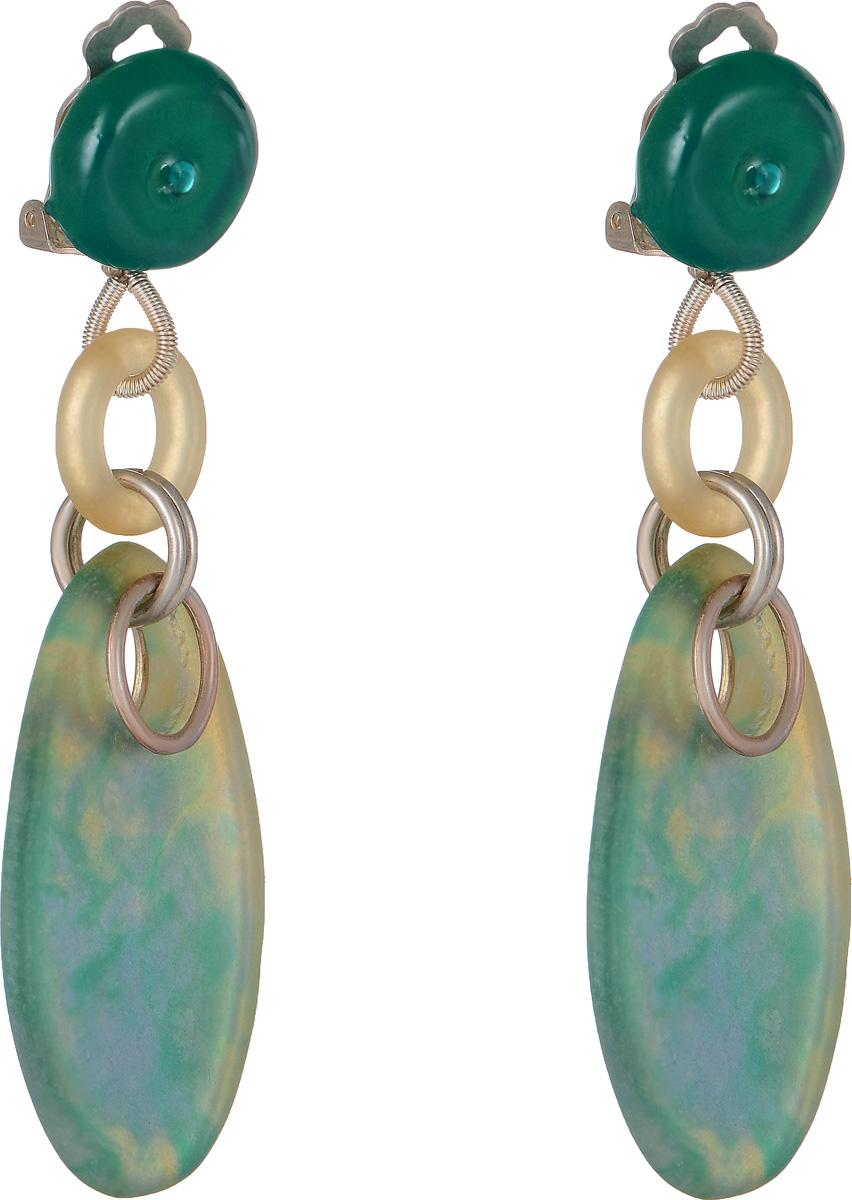 Клипсы Lalo Treasures Row цвет: зеленый, голубой. E3504-1Серьги с подвескамиОригинальные серьги Lalo Treasures Row изготовлены из металлического сплава, дополнены декоративными элементами из ювелирной смолы.Изделие оснащено клипсой, которая надежно зафиксирует серьги.Стильные серьги не оставят равнодушной ни одну любительницу изысканных украшений и помогут создать собственный неповторимый образ.