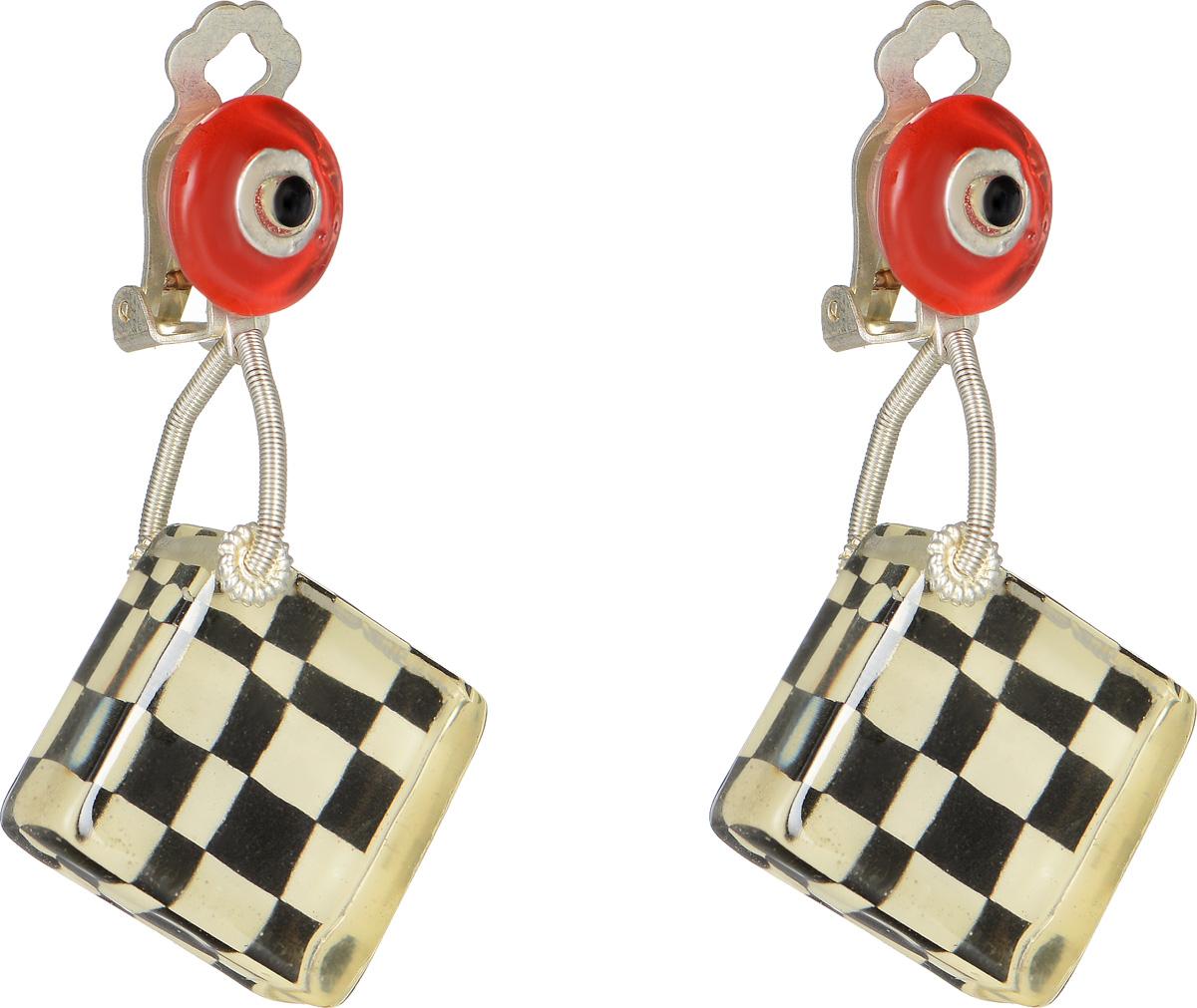 Клипсы Lalo Treasures Row цвет: черный, белый, красный. E3510-3Серьги с подвескамиОригинальные серьги Lalo Treasures Row изготовлены из металлического сплава, дополнены декоративными элементами из ювелирной смолы.Изделие оснащено клипсой, которая надежно зафиксирует серьги.Стильные серьги не оставят равнодушной ни одну любительницу изысканных украшений и помогут создать собственный неповторимый образ.