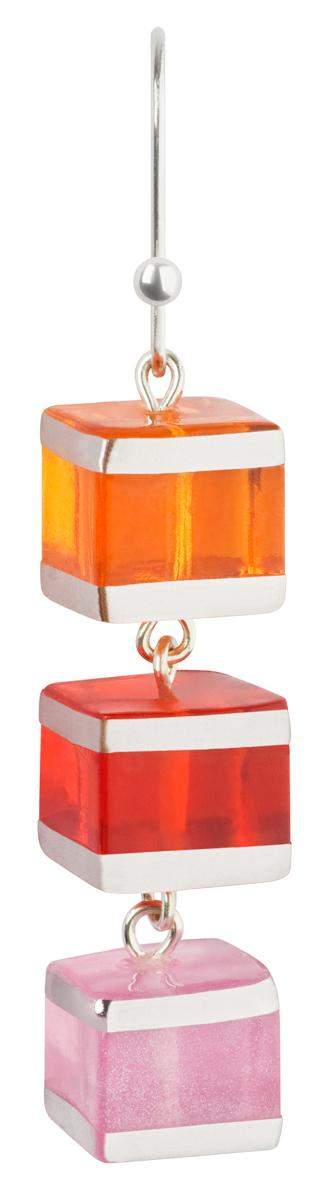 Серьги Lalo Treasures Revolution III, цвет: красный, оранжевый. E3526-1КаффыОригинальные серьги Lalo Treasures изготовлены из металлического сплава, дополнены декоративными элементами из ювелирной смолы.Изделие застегивается на замок-петля, который надежно зафиксирует серьги.Стильные серьги не оставят равнодушной ни одну любительницу изысканных украшений и помогут создать собственный неповторимый образ.