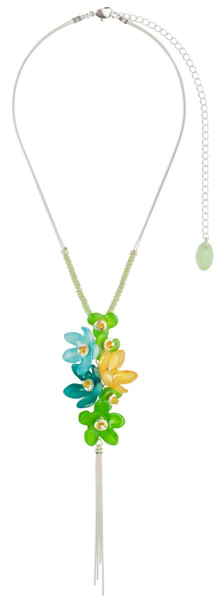 Кулон Lalo Treasures ROW, цвет: зеленый, голубой. P4506Браслет с подвескамиКулон Lalo Treasures выполнен из сплава ювелирной смолы в виде подвесных цветков. Кулон дополнен цепочкой, которая застегивается на замок-карабин. Длина изделия регулируется за счет дополнительных звеньев.Кулон Lalo Treasures поможет дополнить любой образ и привнести в него завершающий штрих.