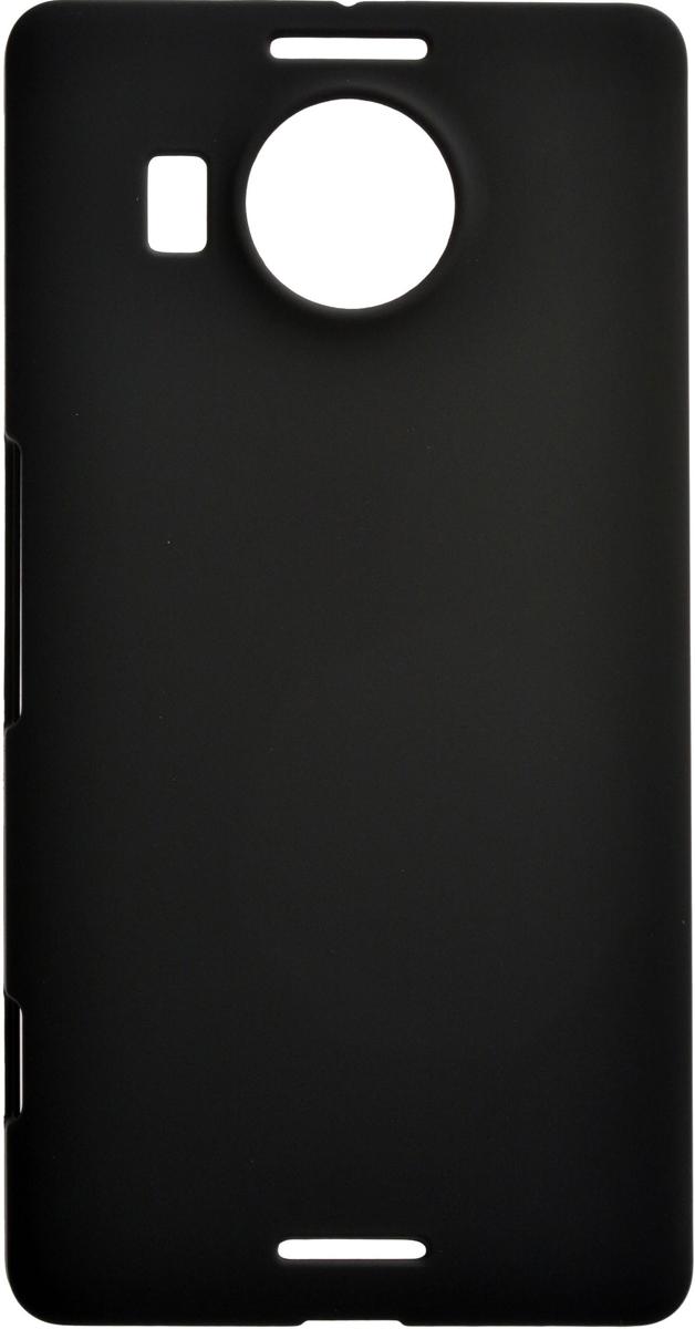Skinbox 4People чехол для Microsoft Lumia 950 XL, Black2000000082004Чехол-накладка Skinbox 4People для Microsoft Lumia 950 XL бережно и надежно защитит ваш смартфон от пыли, грязи, царапин и других повреждений. Выполнена из высококачественного поликарбоната, плотно прилегает и не скользит в руках. Чехол-накладка оставляет свободным доступ ко всем разъемам и кнопкам устройства.