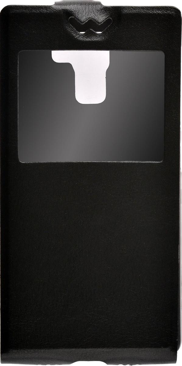 Skinbox Flip Slim AW чехол для Huawei Honor 7, Black trendy weaving and gradient color design wallet for women