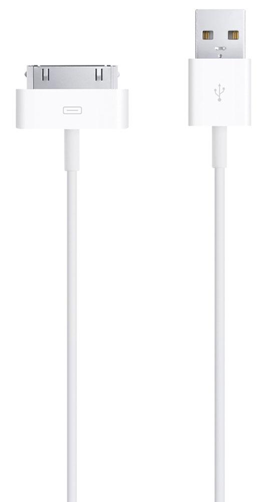 Apple Dock Connector для iPod/iPhone/iPad USB-кабельMA591ZM/CЭтот кабель USB2.0 создан для подключения iPod, iPhone или iPad с разъёмом 30 pin (напрямую или через док-станцию) к порту USB на компьютере для эффективной синхронизации и подзарядки, либо к адаптеру питания AppleUSB для удобной подзарядки напрямую от настенной розетки.Особенности:Доступ ко всем элементам управления и к разъёму для док-станцииУдобная компактная формаПозволяет заряжать устройство в чехле
