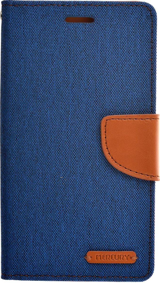 Mercury чехол для Asus Zenfone Laser 2 ZE500KL/ZE500KG, Blue Brown2000000084626Чехол Mercury для Asus Zenfone Laser 2 ZE500KL/ZE500KG выполнен из высококачественной искусственной кожи, текстиля и поликарбоната. Он отлично справляется с защитой корпуса смартфона от механических повреждений и надолго сохраняет привлекательный внешний вид. Чехол также обеспечивает свободный доступ ко всем разъемам и клавишам устройства.