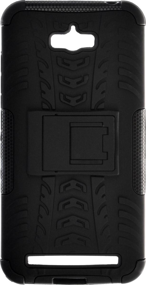 Skinbox Defender Case чехол для Asus Zenfone Max (ZC550KL), Black2000000089379Чехол-накладка Skinbox Defender Case для Asus Zenfone Max (ZC550KL) бережно и надежно защитит ваш смартфон от пыли, грязи, царапин и других повреждений. Выполнена из высококачественного поликарбоната, плотно прилегает и не скользит в руках. Чехол-накладка оставляет свободным доступ ко всем разъемам и кнопкам устройства.