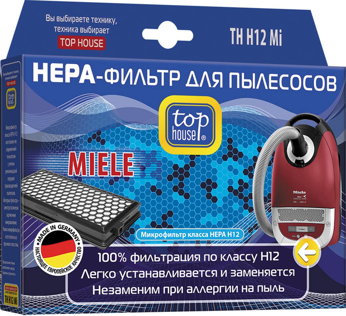 Top House 12870 TH H12 Mi HEPA-фильтр для пылесосов Miele12870НЕРА-фильтр Top House 12870 TH H12 Mi изготовлен в Германии из специального материала по современной технологии с учетом рекомендаций ведущих производителей пылесосов. Благодаря уникальной структуре НЕРА-фильтр задерживает все частицы пыли размером от 0,0003 мм, что в 233 раза меньше толщины человеческого волоса. Высокая степень фильтрации позволяет очистить воздух от бактерий, пыльцы растений, спор плесени и пылевых клешей. Особенно рекомендуется использовать НЕРА-фильтр для пылесоса людям, чувствительным к домашней пыли или страдающим аллергией, а также, если в доме есть маленькие дети. Замену НЕРА-фильтра необходимо производить не реже 1 раза в год в соответствии с инструкцией к вашему пылесосу.Для пылесосов Miele S4210 – S4812, S5210 – S5981, S6210 – S6780, S8310 – S8990, Compact C1-C2, Complete C2-C3