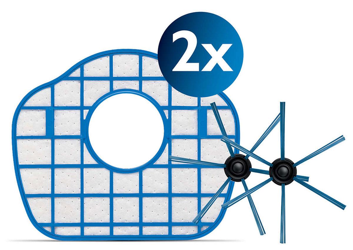Philips FC8067/01 набор аксессуаров для робот-пылесосов SmartPro CompactFC8067/01Сменный комплект аксессуаров Philips FC8067/01, совместимых с роботами-пылесосами SmartPro Compact. В комплект входят 2 фильтра выходящего воздуха и 1 пара щеток. Аксессуары следует заменять для продления срока службы робота-пылесоса.