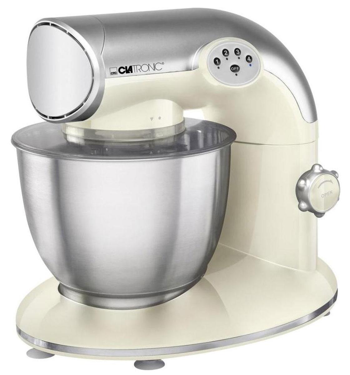 Clatronic KM 3632, Cream кухонный комбайнKM 3632 cremeКухонный комбайн Clatronic KM 3632 станет прекрасным помощником для любой хозяйки. С ним вы сможете готовить невероятно вкусные и аппетитные блюда, при этом сократив время их приготовление. Основным назначением прибора является изготовление различных видов теста и кремов. Комбайн качественно и быстро перемешивает различные ингредиенты, что дает возможность избежать комочков. Clatronic KM 3632 снабжен чашей из нержавеющей стали и механической системой управления. 4 скорости замешивания обеспечат наилучший результат.