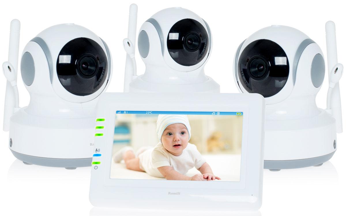 Ramili Baby RV900X3, White видеоняня -  Радио и видеоняни
