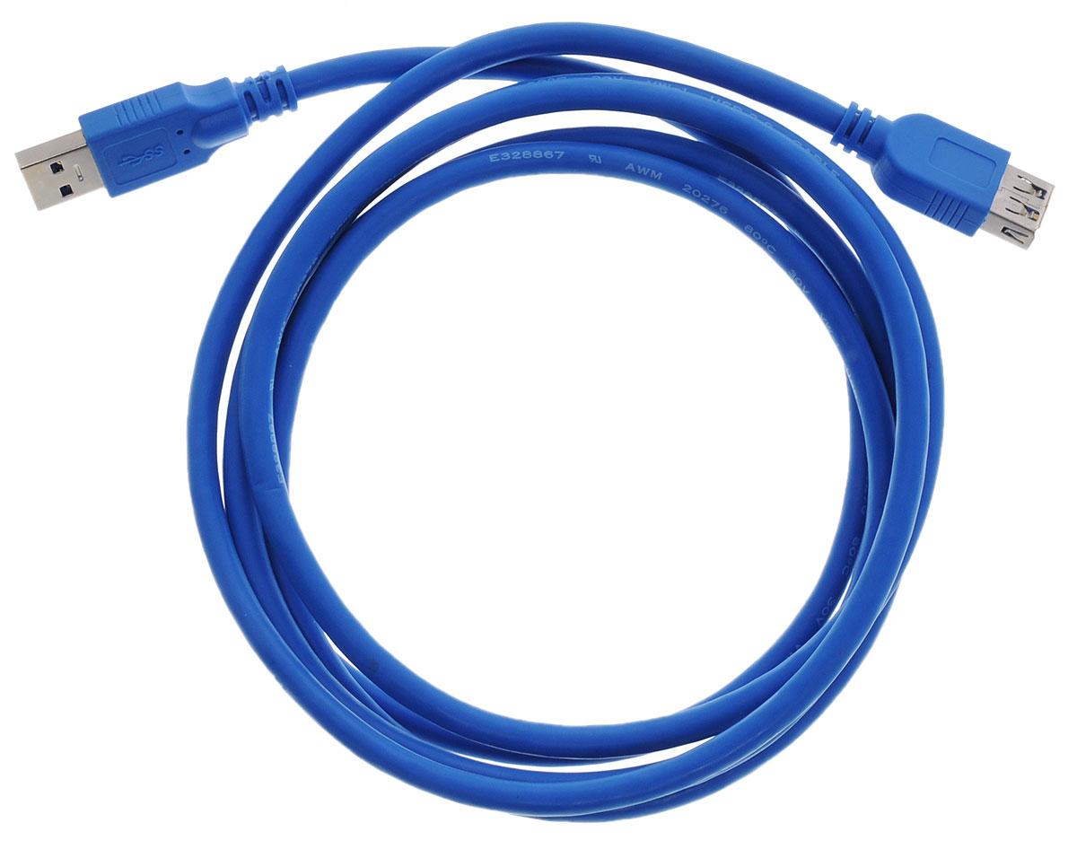 Greenconnect Premium GC-U3A02, Blue кабель-удлинитель USB 2 мGC-U3A02-2mКабель-удлинитель Greenconnect Premium GC-U3A02 позволит увеличить расстояние до подключаемого устройства. Может быть использован с различными USB девайсами. Кабель имеет двойное экранирование (сочетание фольгированной и общей оплетки), что позволяет защитить сигнал при передаче от влияния внешних полей, способных создать помехи.Скорость передачи данных: до 5 Гбит Обратная совместимость с USB 2.0/1.1Тип оболочки: PVC (ПВХ)