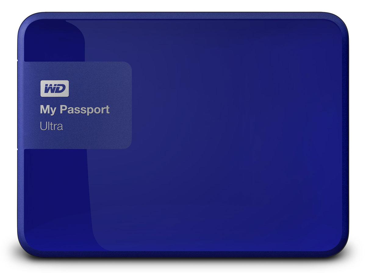 WD My Passport Ultra 2TB, Blue внешний жесткий диск (WDBNFV0020BBL-EEUE)WDBNFV0020BBL-EEUEНесмотря на свои компактные размеры, накопитель My Passport Ultra является стильным, мощным и защищенным устройством. Под цветным корпусом скрыты надежность и результат семи поколений инноваций. My Passport Ultra предлагается в четырех цветовых решениях, доступна емкость 500 ГБ, 1 ТБ, 2 ТБ и 3 ТБ. Накопитель обладает гибкими параметрами резервного копирования, аппаратным шифрованием с 256-разрядным ключом и ограниченной гарантией в три года.WD Backup: автоматическое и масштабируемое резервное копированиеСоздайте собственную стратегию автоматического резервного копирования, отвечающую вашему графику и стилю работы. Создавайте резервные копии всех файлов системы или только отдельных папок и файлов. Управление в ваших руках.WD Security: секретный уровень защитыВы ведь защищаете данные на телефоне с помощью пароля? Почему бы не использовать такую же защиту в накопителе My Passport? Выберите пароль для защиты с помощью мощного аппаратного шифрования с 256-разрядным ключом, которое используется правительствами для защиты секретной информации.My Passport Ultra поддерживает интерфейс USB 3.0, обеспечивающий скорость передачи данных 5 Гбит/с (что в три раза превышает скорость USB 2.0). Для работы накопителя не нужны громоздкие шнуры питания и штепсельные вилки.Пропускная способность интерфейса: 5 Гбит/сШифрование с ключом 256 битОС: Windows 8, 7, Vista; Mac OS X (требуется переформатирование)
