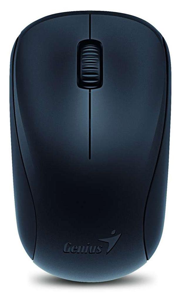 Genius NX-7000, Black мышь беспроводная31030109100Genius NX-7000 - это беспроводная мышь черного цвета с 3-мя кнопками, колесом прокрутки и интерфейсом подключения нано-приемника через универсальный USB.Использование технологии BlueEye обеспечивает надежную работу на любых поверхностях. Разрешение оптического датчика, установленного в NX-7000, составляет 1200 точек на дюйм. Форма мыши делает ее одинаково подходящей для правшей и левшей. К компьютеру мышь подключается по радиоканалу на частоте 2,4 ГГц. Соответствующий миниатюрный приемник, подключаемый к порту USB, входит в комплект. Работает устройство от одного элемента питания AA.