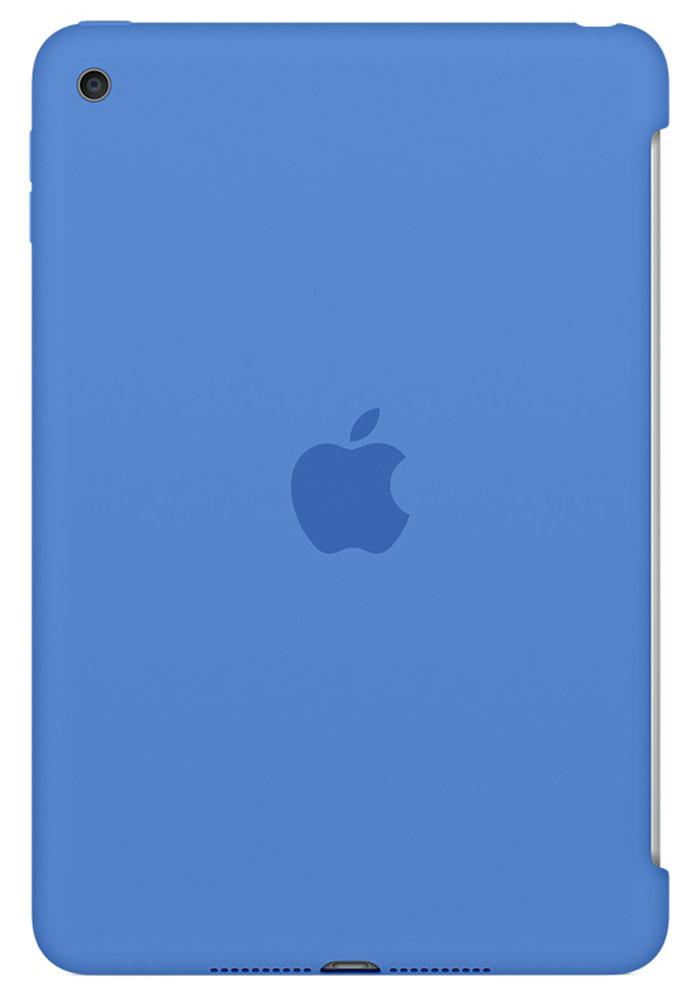 Apple Silicone Case чехол для iPad mini 4, Royal BlueMM3M2ZM/AСиликоновый чехол защищает заднюю поверхность iPad mini 4 и идеально совместим со Smart Cover, чтобы ваше устройство было в безопасности с обеих сторон. Чехол с гладкой силиконовой поверхностью очень приятен на ощупь и надёжно оберегает iPad mini 4, сохраняя его корпус таким же тонким и изящным.