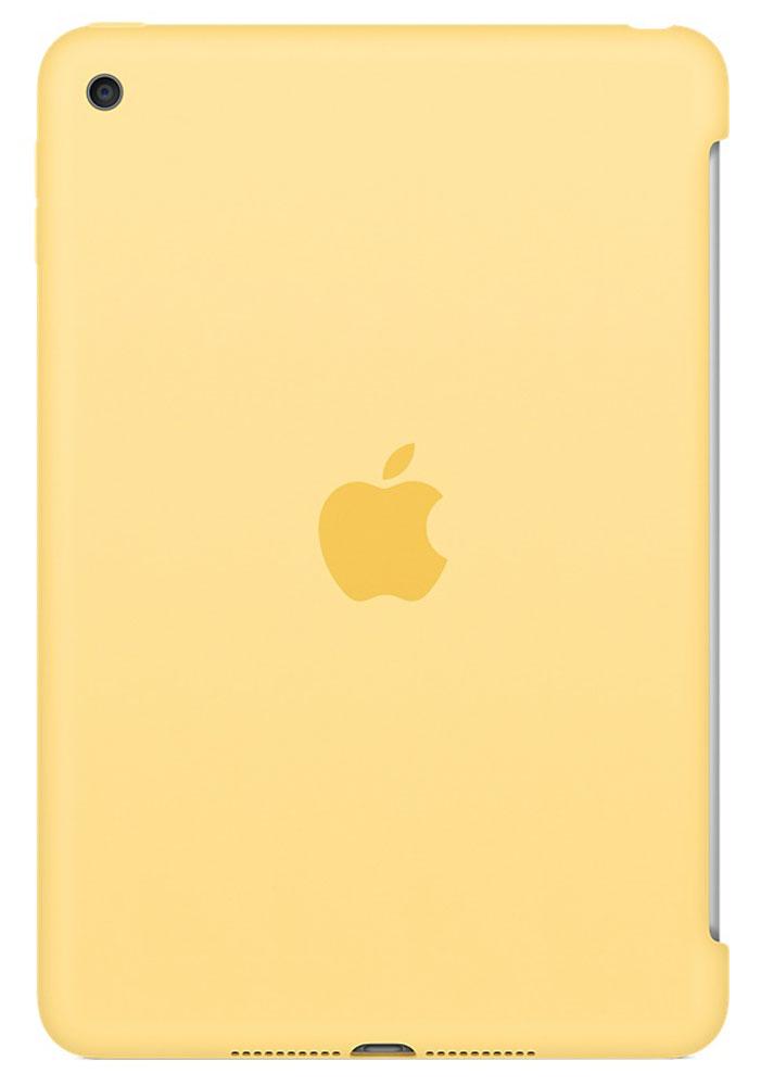 Apple Silicone Case чехол для iPad mini 4, YellowMM3Q2ZM/AСиликоновый чехол защищает заднюю поверхность iPad mini 4 и идеально совместим со Smart Cover, чтобы ваше устройство было в безопасности с обеих сторон. Чехол с гладкой силиконовой поверхностью очень приятен на ощупь и надёжно оберегает iPad mini 4, сохраняя его корпус таким же тонким и изящным.