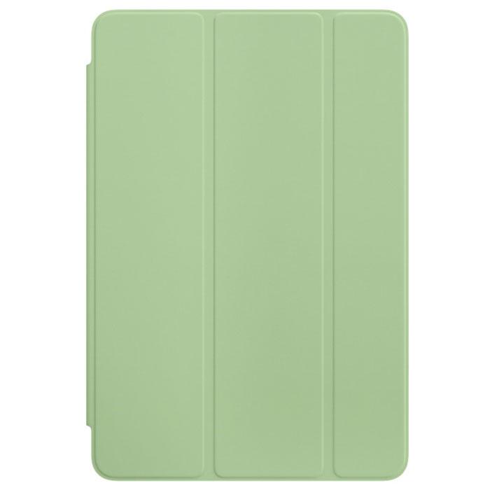 Apple Smart Cover чехол для iPad mini 4, MintMMJV2ZM/AОбложка Apple Smart Cover для iPad mini 4 создана из цельного листа полиуретана, чтобы защищать переднюю панель вашего устройства. Smart Cover автоматически выводит iPad из режима сна при открытии и переводит в режим сна при закрытии. Она складывается различными способами, что позволяет использовать её как подставку для чтения, просмотра фильмов, набора текста или звонков FaceTime. Обложка снимается и надевается очень легко, в любой момент.