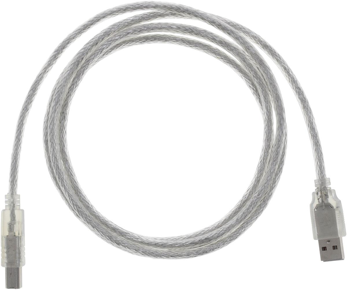Greenconnect Premium GCR-UPC2M-BD2S, Clear кабель USB 1.8 мGCR-UPC2M-BD2S-1.8mКабель Greenconnect Premium GCR-UPC2M-BD2S используется для подключения к компьютеру различных устройств с разъемом USB тип B, например, принтер, камеры, сканер, МФУ. Надежно работает со всеми моделями HP. Экранирование кабеля позволит защитить сигнал при передаче от влияния внешних полей, способных создать помехи.Пропускная способность интерфейса: USB 2.0 до 480 Мбит/сТип оболочки: PVC (ПВХ)