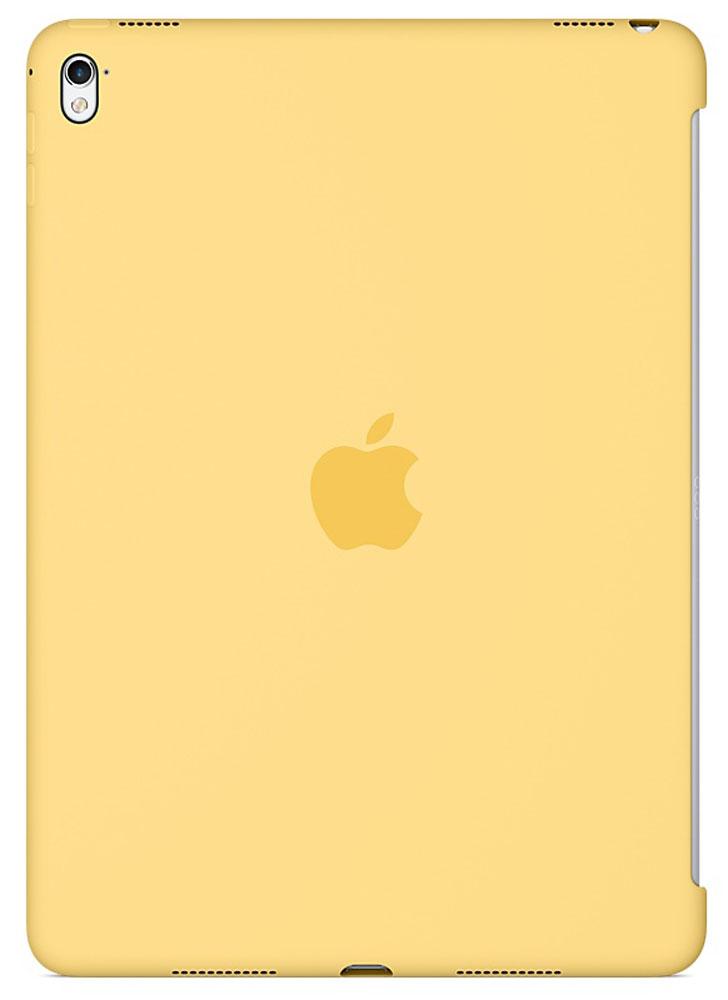 Apple Silicone Case чехол для iPad Pro 9.7, YellowMM282ZM/AСиликоновый чехол от Apple закрывает заднюю поверхность вашего iPad Pro и плотно прилегает к кнопкам, не делая его толще. Мягкая внутренняя поверхность из микроволокна защищает устройство, а гладкий силикон очень приятен на ощупь. Чехол идеально совместим с новой клавиатурой Smart Keyboard и обложкой Smart Cover. Ваш iPad Pro защищён со всех сторон.
