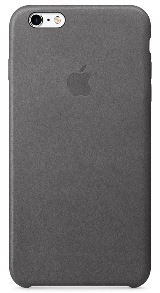 Apple Leather Case чехол для iPhone 6s Plus, Storm GrayMM322ZM/AApple Leather Case - роскошный чехол, изготовленный из специально обработанной и выделанной кожи европейского производства и спроектированный теми же дизайнерами Apple, которые работали над iPhone. Каждый чехол идеально облегает телефон, поэтому ваш iPhone 6s Plus или iPhone 6 Plus по-прежнему будет выглядеть невероятно тонким. Мягкая внутренняя поверхность чехла, выполненная из микроволокна, защитит корпус вашего iPhone. А его внешняя сторона порадует вас глубоким оттенком: специальная технология окраски позволяет цвету буквально проникать в структуру кожи.